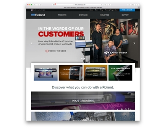 Roland DGA Launches its New Corporate Web Site - Sign Builder