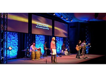 Triple Projector Installation Revitalizes Church Stage