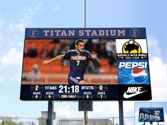 CSU Fullerton Soccer Scores a Daktronics LED Display - Sign