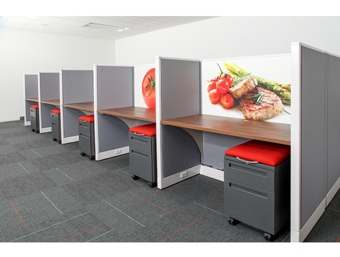 Refurbished Eco Friendly Office Furniture Customized With Graphics