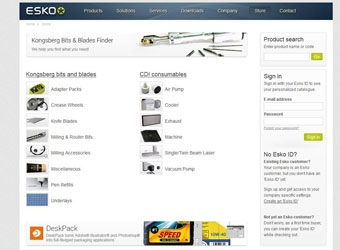 New Esko Store for Bits, Blades, and Parts Now Open! - Sign