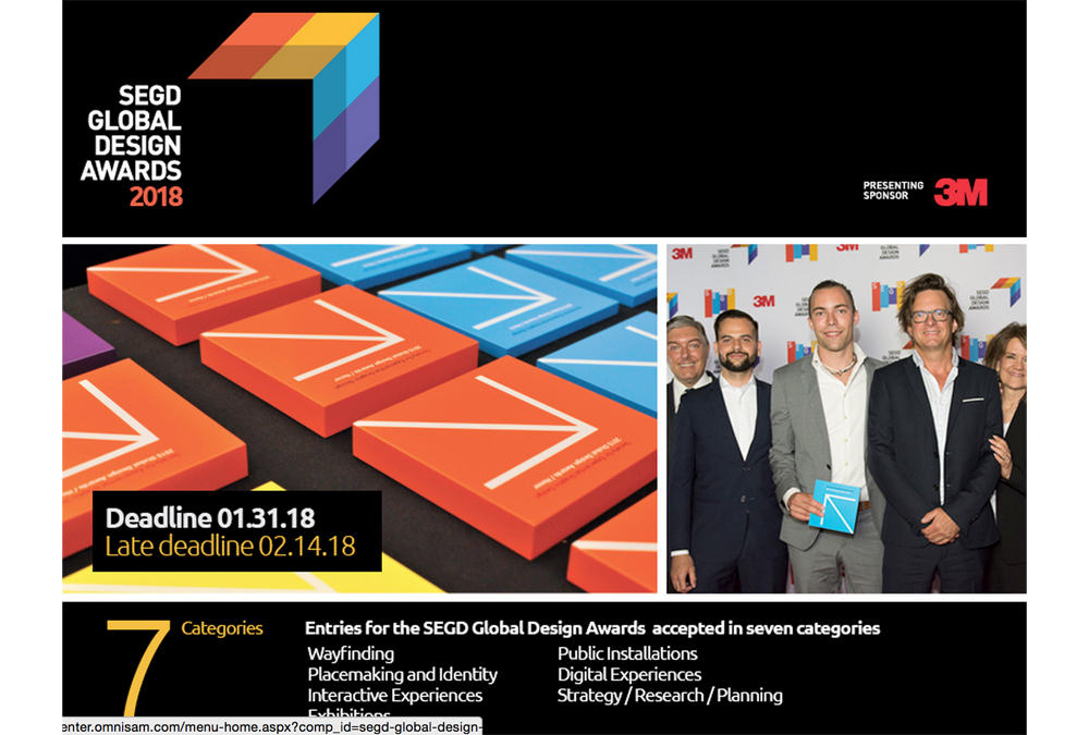awards to recognize excellence in experiential graphic design sign