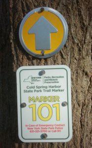 Cold Spring Harbor State Park trail marker