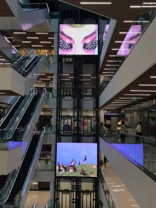 Galleria Tbilisi daktronics interior digital signage