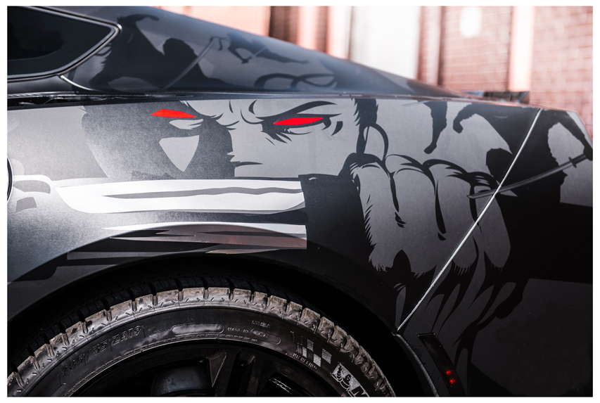 Vehicle Wrap Samurai On Wheels Sign Builder Illustrated