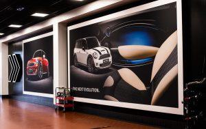 custom-printed graphics interior environments