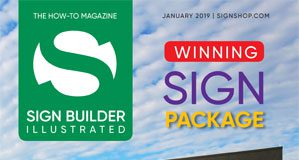 January 2019 sign builder illustrated issue