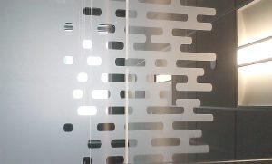 Vinyl graphics on glass