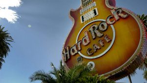 Hard Rock Cafe sign restoration YESCO The Neon Museum