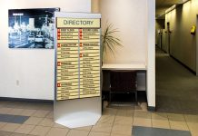 interior directional signs Howard Industries