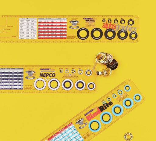 Grommet Sizing Template