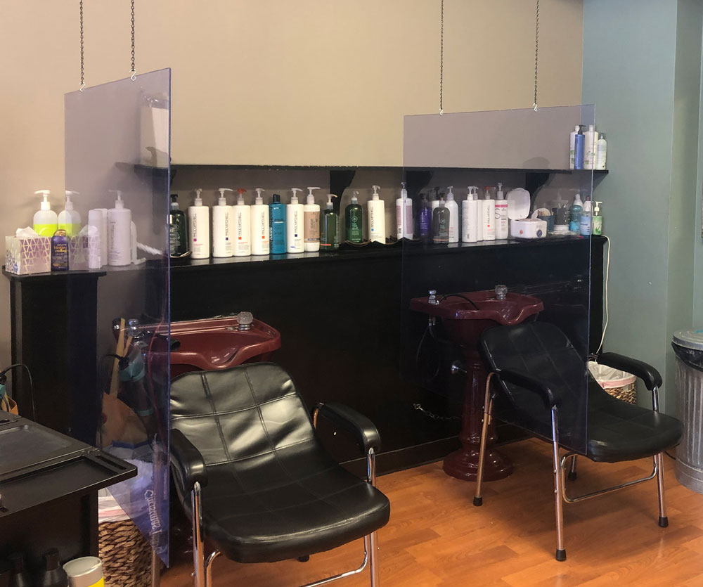 Strandz Salon Vycom Vintec® Clear barriers
