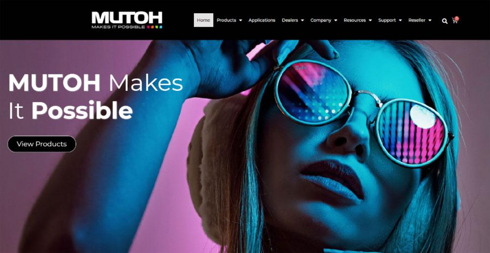 Mutoh America new website