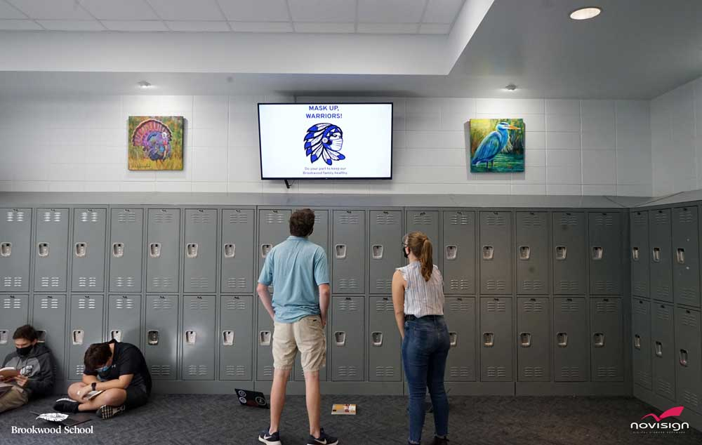 NoviSign Brookwood School digital displays