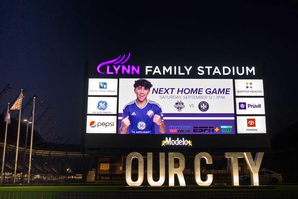 Rueff sign company lynn family stadium