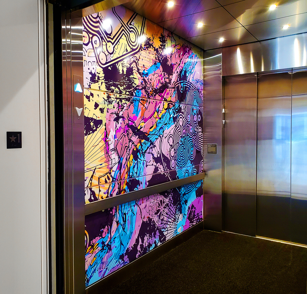 Elevator Graphics Elevate Color - Sign Builder Illustrated, The How-To Sign Industry Magazine