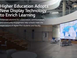 Higher Ed digital signage LG