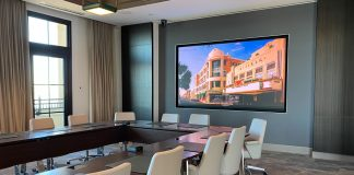 LG commercial displays The Beach House
