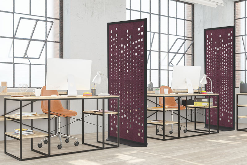 Fabric Images Acoustical Partition Products