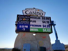 golden acorn casino sign cns signs