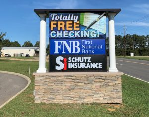 bank digital sign complete signs